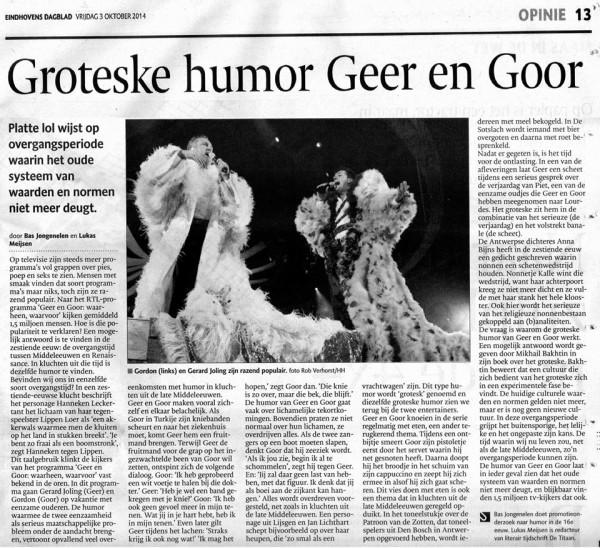 Groteske humor van Geer en Goor